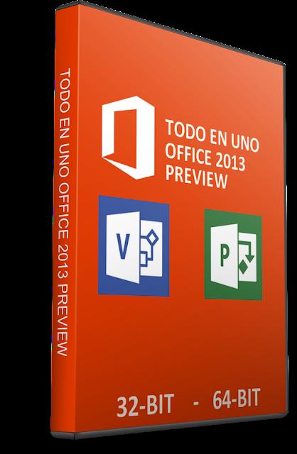 Todo en Uno Microsoft Office Professional 2013 Preview Español