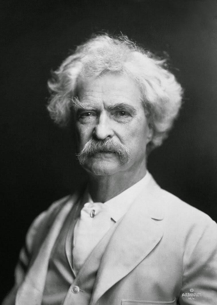 Portrait of Mark Twain by AF Bradley.  Source: http://upload.wikimedia.org/wikipedia/commons/0/0c/Mark_Twain_by_AF_Bradley.jpg