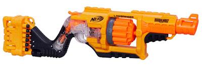 TOYS : JUGUETES - NERF Doomlands 2169 Lawbringer | Blaster | Pistola Producto Oficial 2015 | Hasbro B3457 | A partir de 8 años Comprar en Amazon España Buy Amazon USA