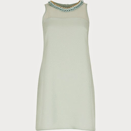 mint green river island dress,