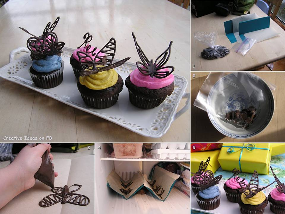IDEAS and DECOR: Chocolate Butterfly Decorations for Cakes.
