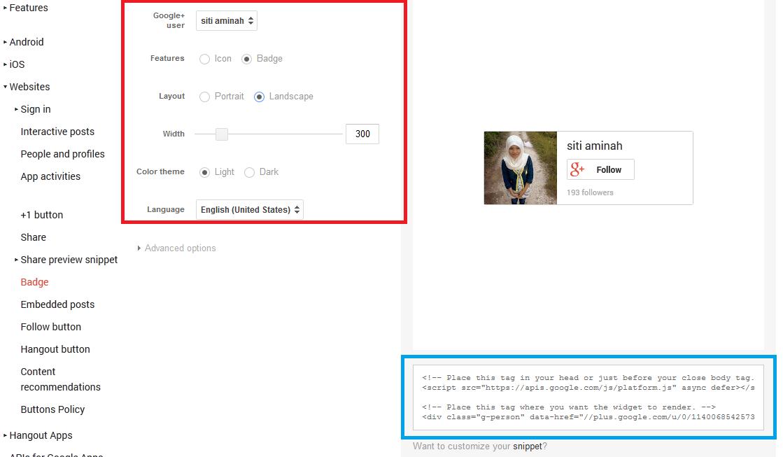 Cara Mengatasi Google+ Badge Yang Tidak Mau Muncul