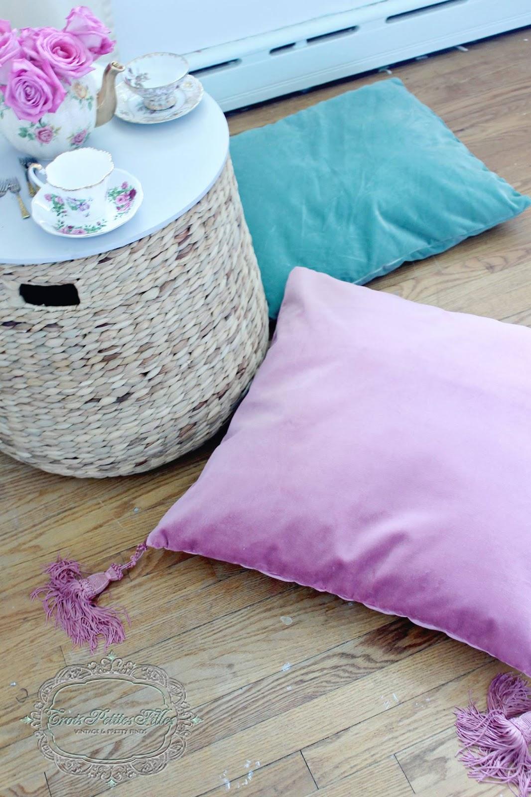 Trois Petites Filles: Bohemian Velvet Floor Pillows