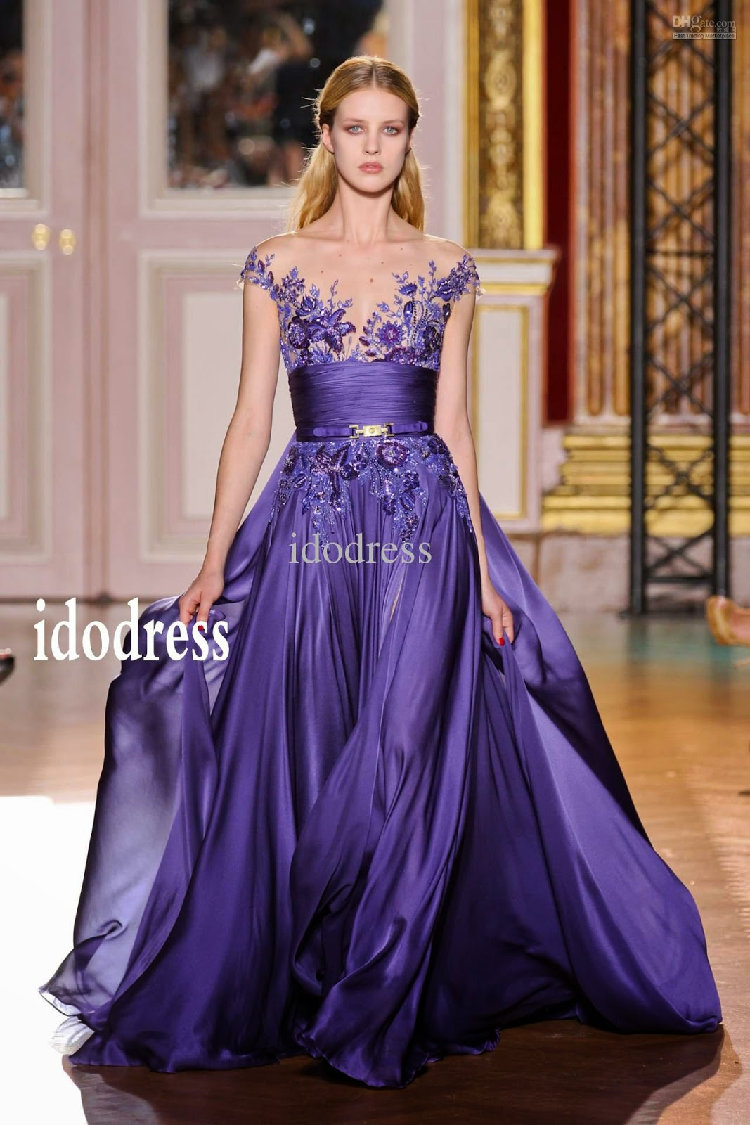 Beautiful purple prom evening dresses