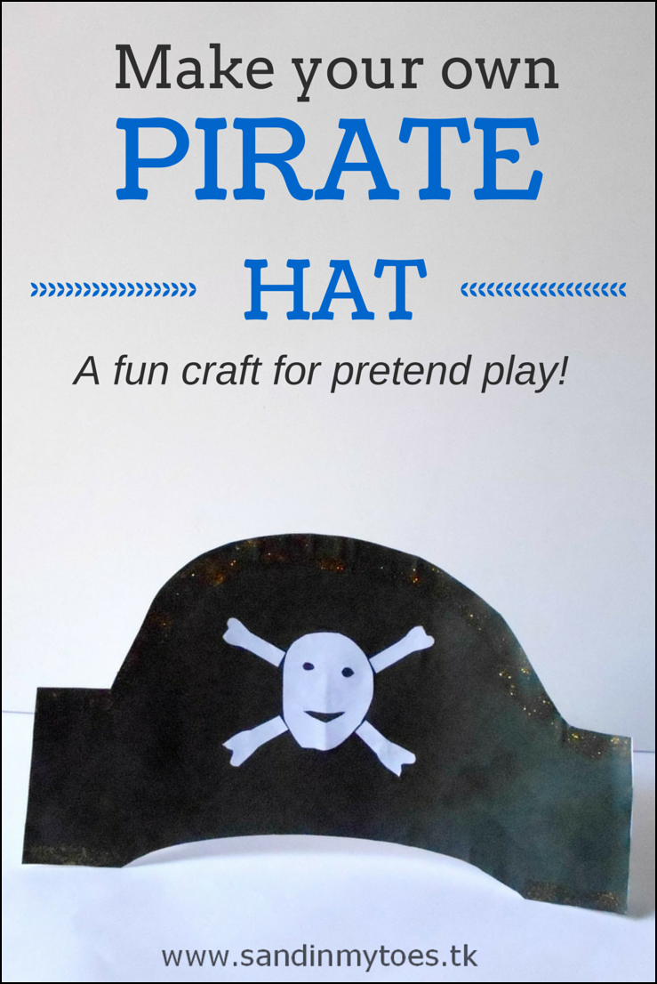 An easy to make pirate hat for kids!