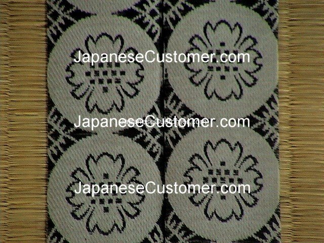 Design on Japanese tatami mat Copyright Peter Hanami 2005