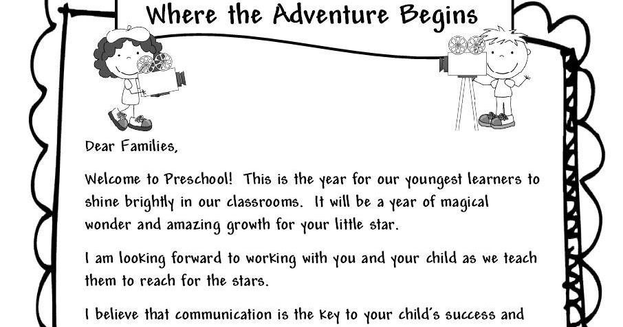 Learning and teaching with preschoolers welcome parents letter spiritdancerdesigns Choice Image