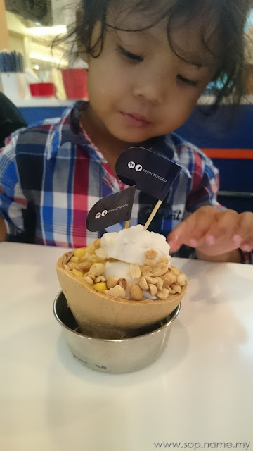 Ais krim kelapa Nutty Coco