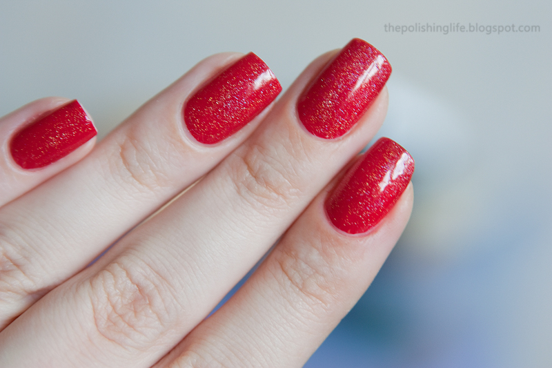 I Love Nail Polish My Private Rainbow + OPI Big Apple Red