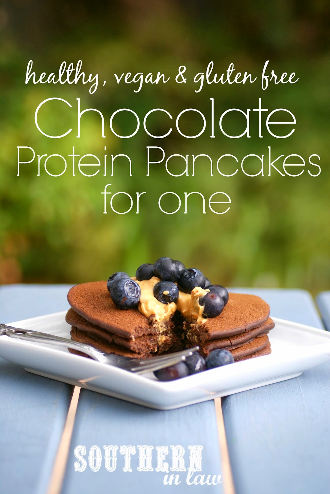 Healthy Chocolate Protein Pancakes - Single Serving - Gluten Free, Vegan, Low Fat, Sugar Free