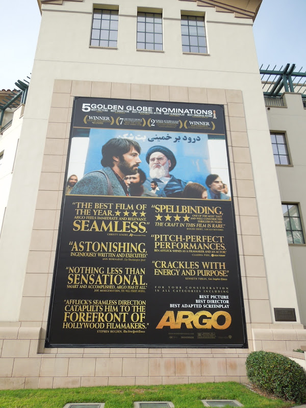 Argo award nomination billboard