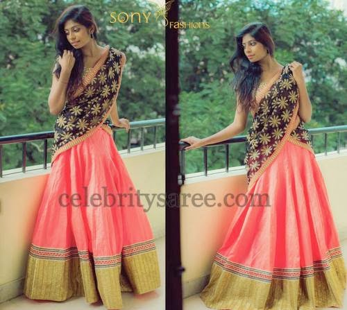 Lehenga with Floral Duppatta