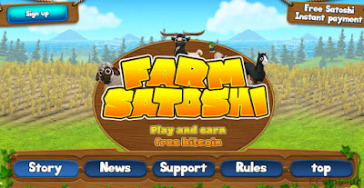 earn free bitcoin at Farm Satoshi online game