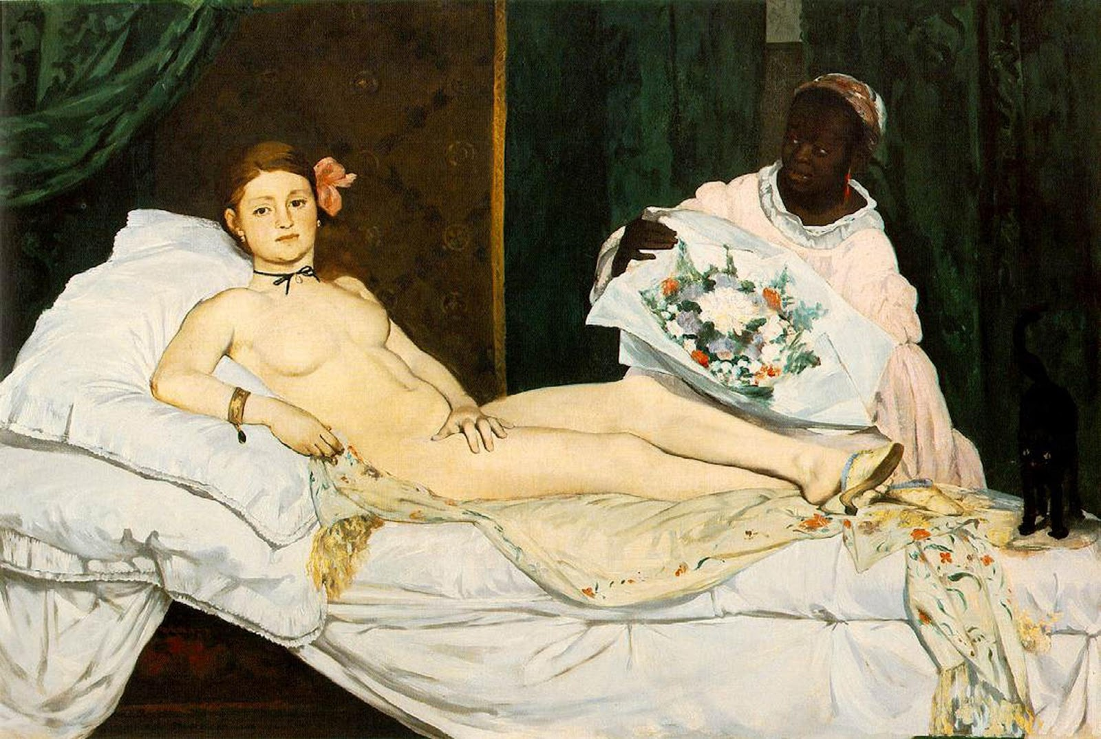 [Jeu] Association d'images - Page 4 1863+Edouard+Manet,+Olympia