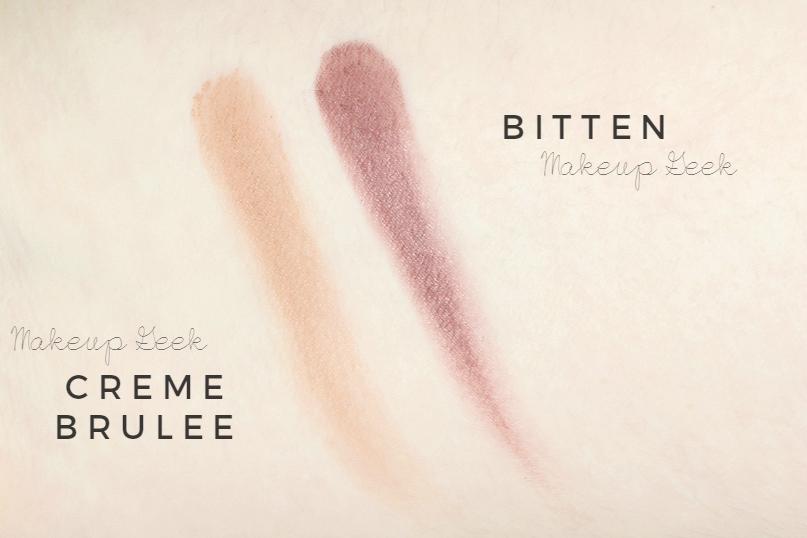 makeup geek haul review creme brulee bitten swatch