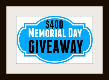 KBR $400 Memorial Day Giveaway!