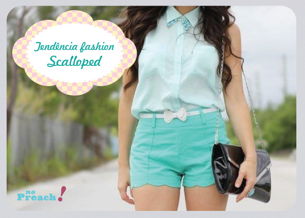 tendência scalloped crop clothes
