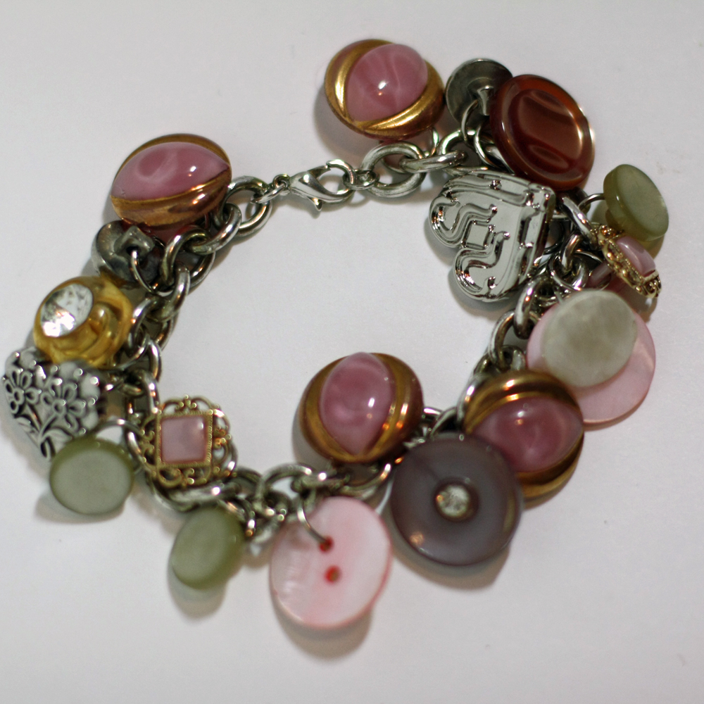 southern scraps button charm bracelet