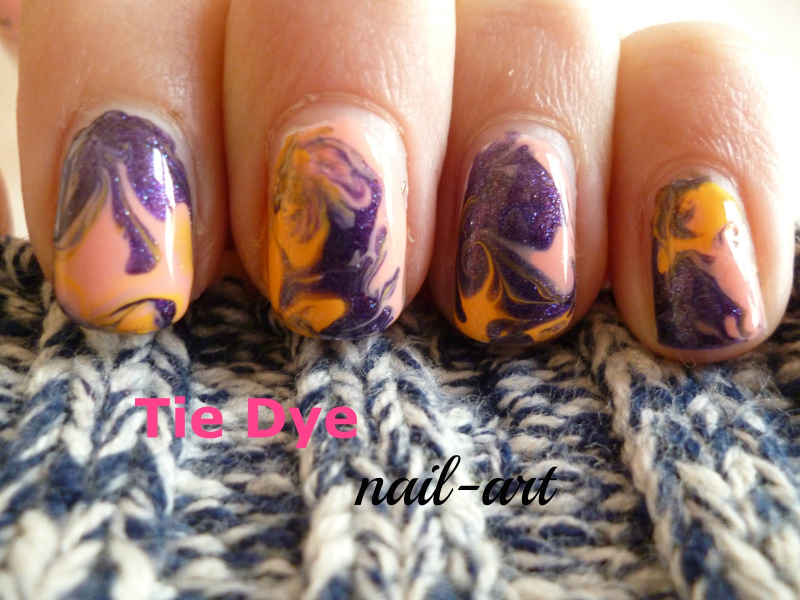 Nail Art By Sabine Nail Art Voor Beginners Tie Dye Nagels