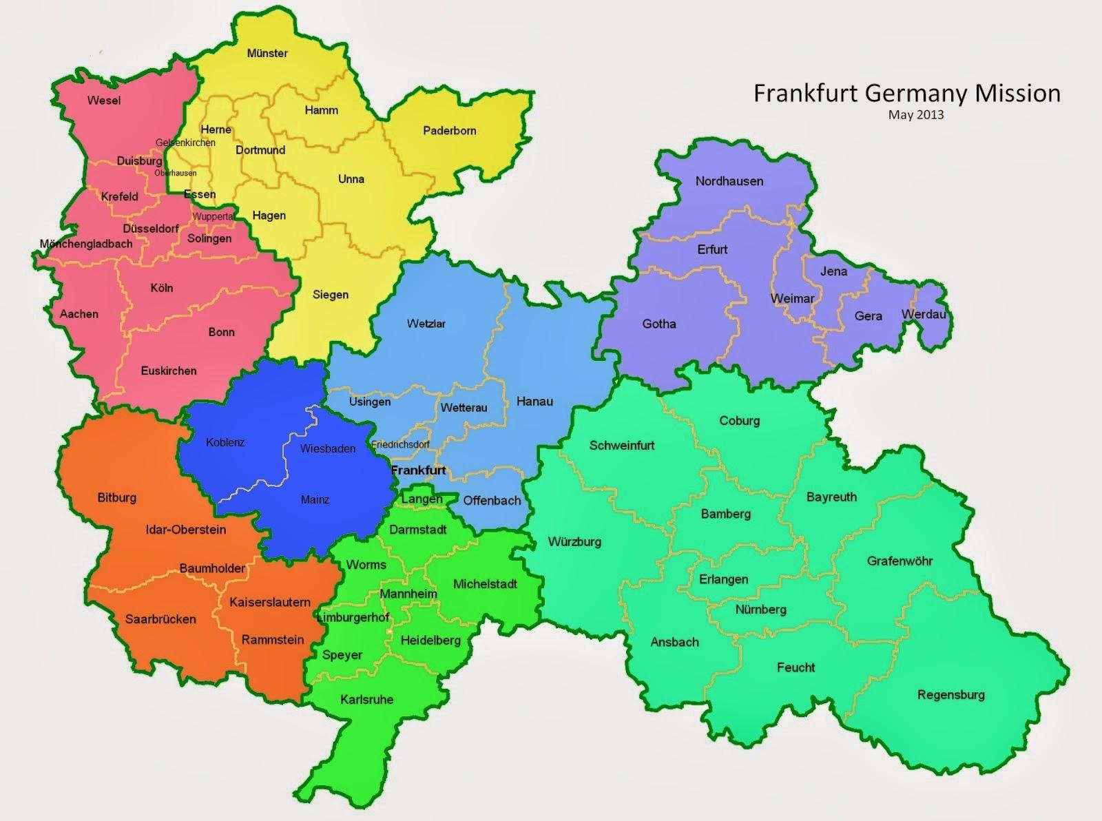 Germany Frankfurt Mission Maps Of The Germany Frankfurt