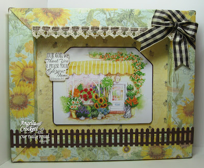 "Our Daily Bread designs ""Pumpkin Wreath"" (scripture), Flower Soft Scrap It Frame Designer Angie Crockett"