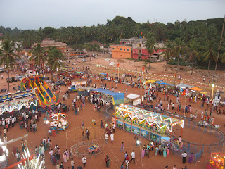 Entertainment stalls at the Festival