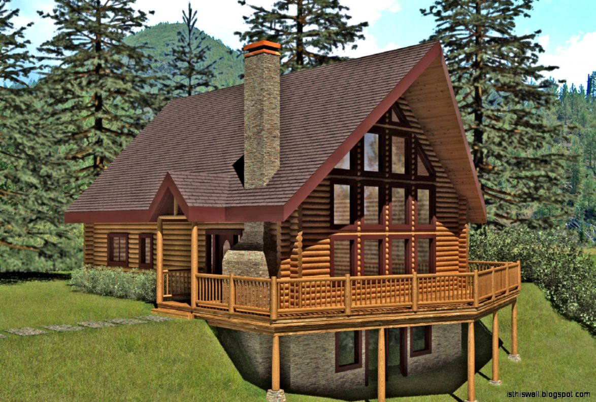 September 2015 this wallpapers for Log cabin style house