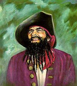 A depiction of Edward Teach more commonly known as Blackbeard the Pirate