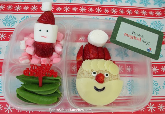 Santa, Christmas, bento school lunches