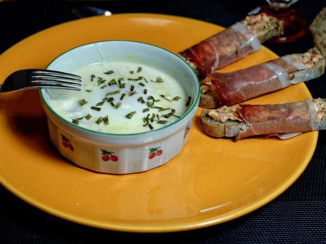 Œufs cocotte au potiron et trois fromages