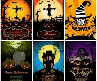 Halloween posters vector