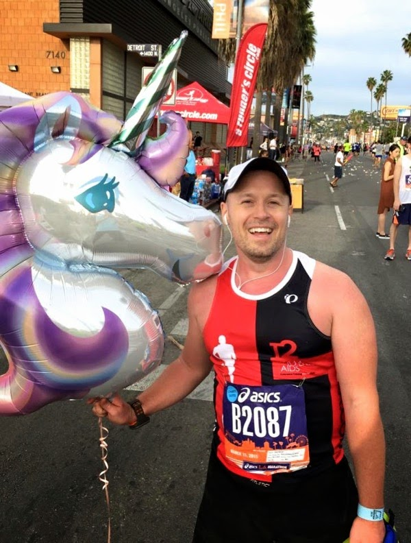 2015 LA Marathon charity runner Mile 12