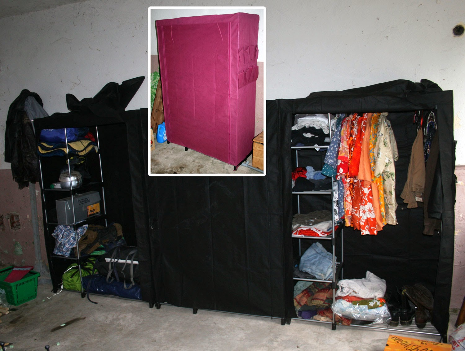 Wardrobes done and in use