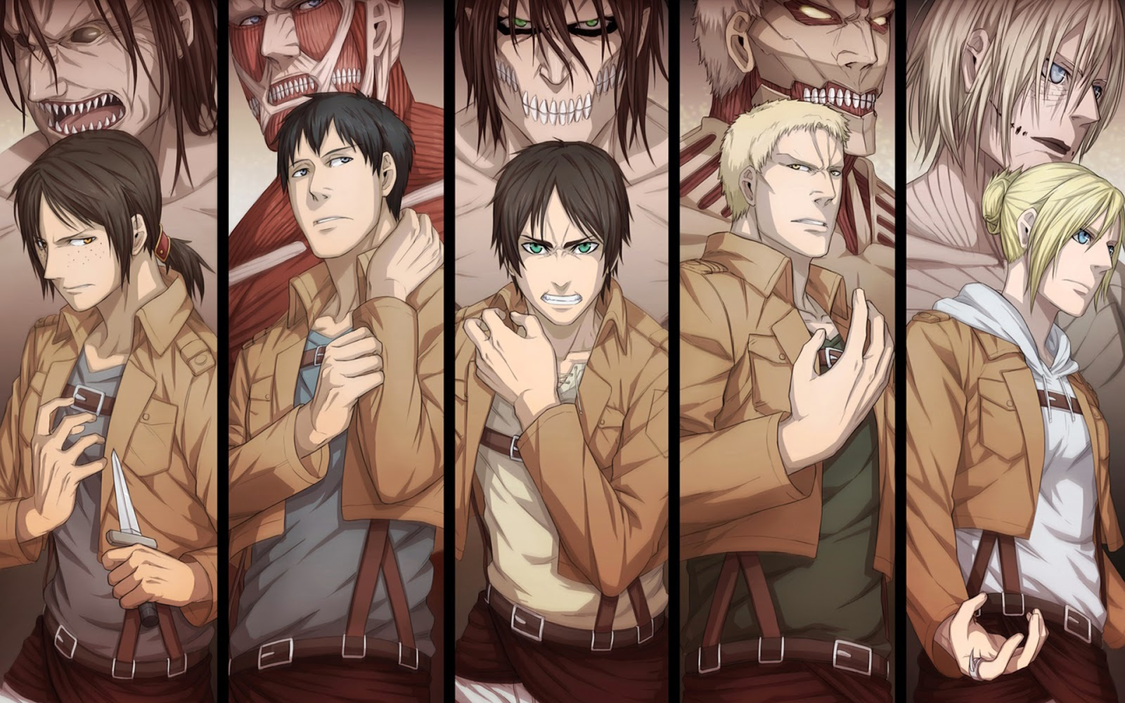 All Kinds of Titan Shingeki no Kyojin hd wallpaper