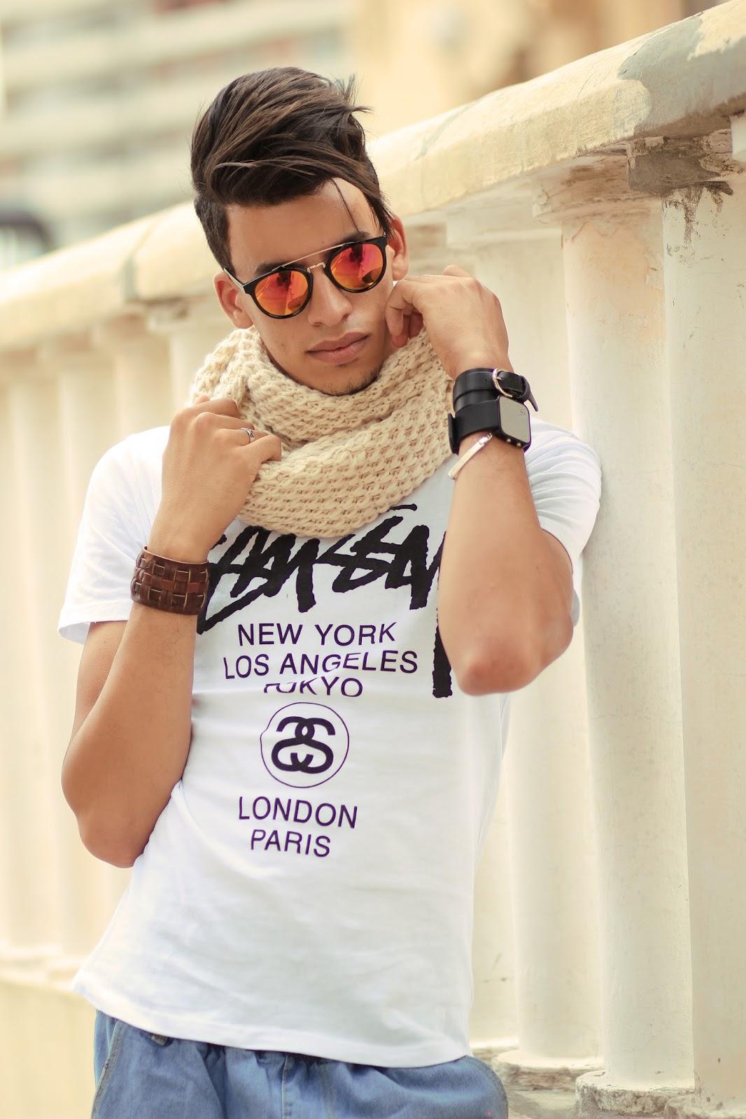Espada Yassine wearing Emblem Eyewear Sunglasses