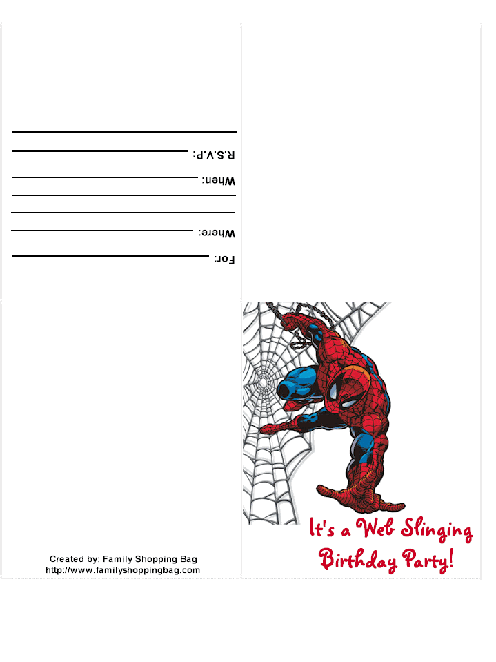 Using Spiderman Themed Party Invitations | My Kids Love To Watch ...
