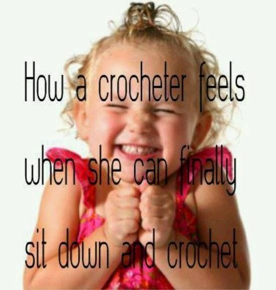 excited about crocheting