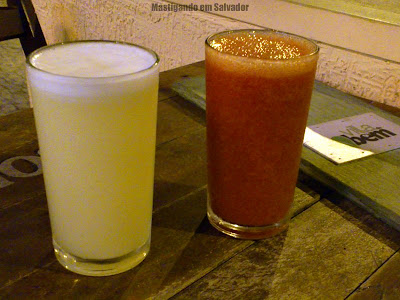 Villa do Bem: Sucos de Abacaxi e de Morango