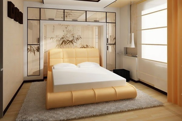Japanese style bed frame, bedroom furniture design