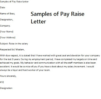 sample pay raise letter picture
