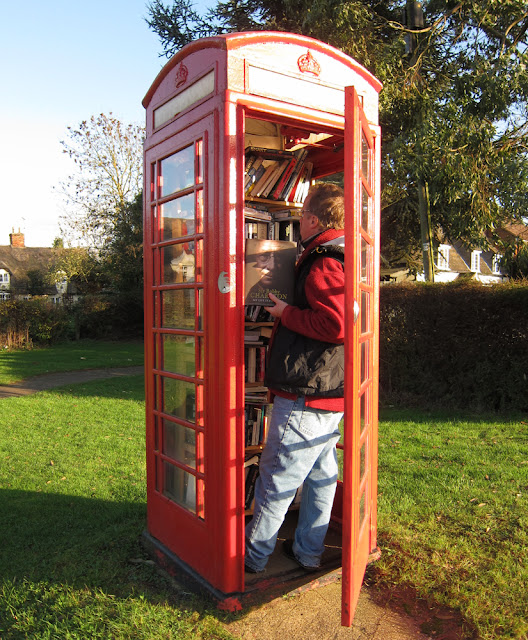 phone box library - photograph by Tim Irving