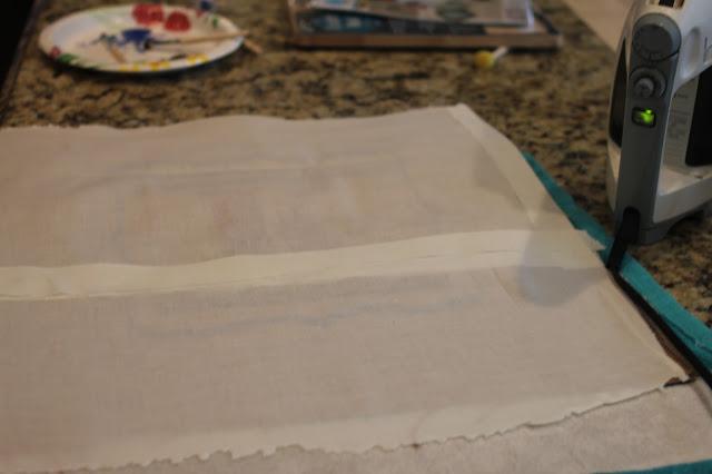 No sew stenciled monogram burlap pillow via www.goldenboysandme.com