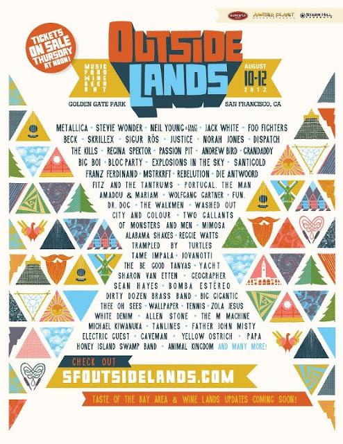 Plakat Outside Lands 2012