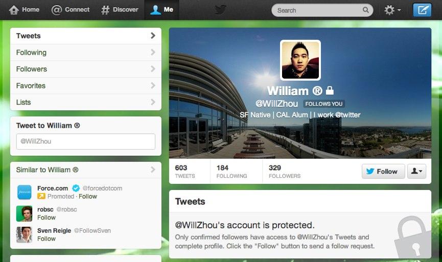 Twitter Impostazioni Profilo