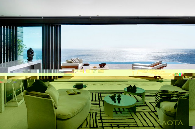 Photo of incredible ocean view from the living room