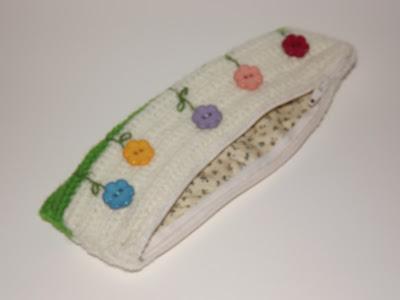 estuche crochet jardín flores