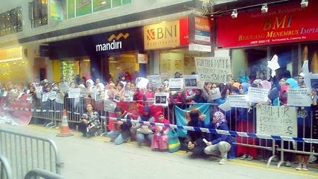 Aksi Solidaritas TKI Hongkong Untuk Erwiana Sulistyaningsih