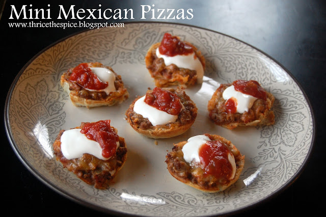 ThriceTheSpice: Mini Mexican Pizzas