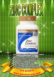 Zinc Complex, Testimoni, Produk SHAKLEE, COD, Kongsi, Independent SHAKLEE Distributor, Pengedar Shaklee Kuantan,