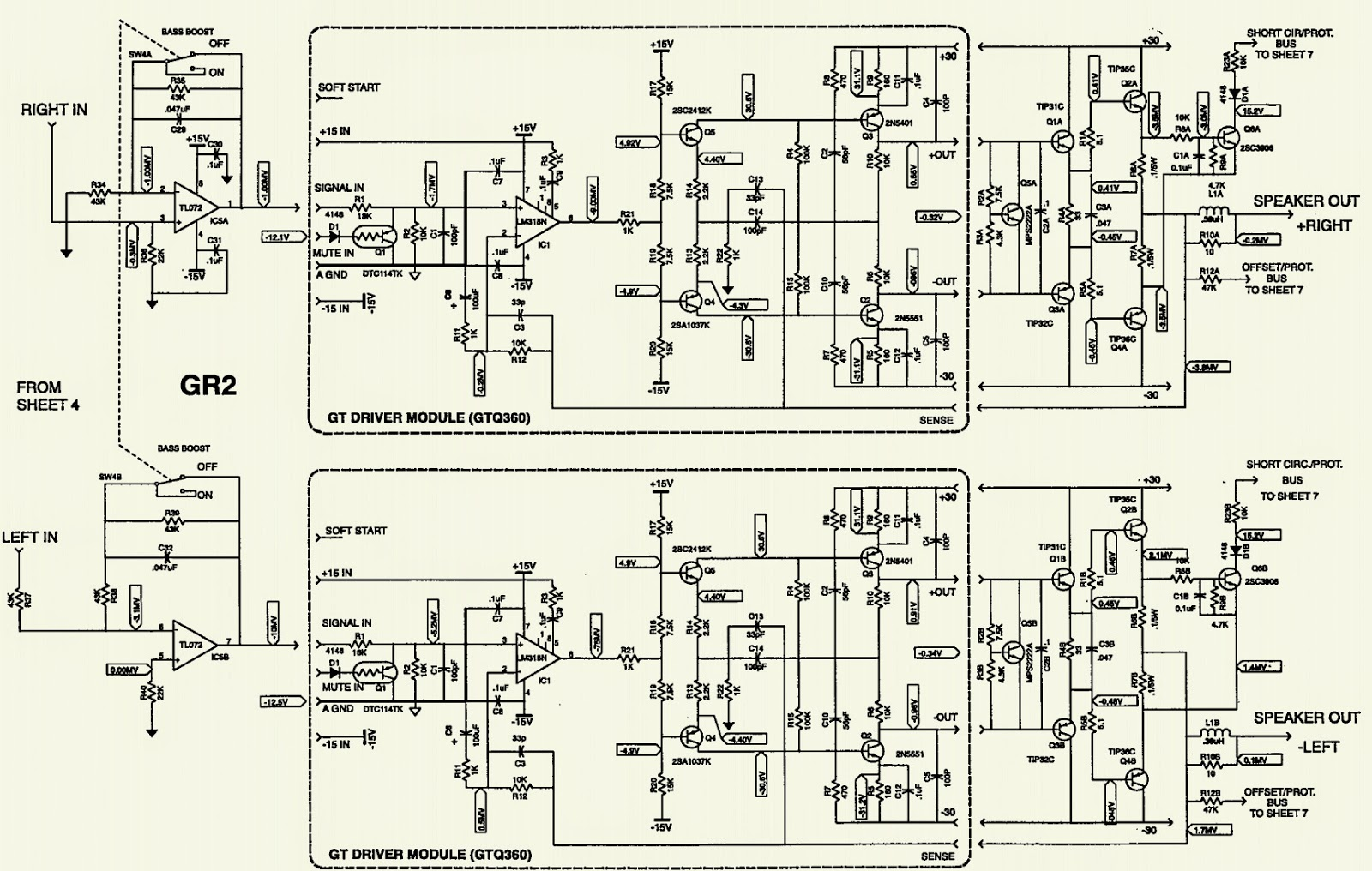 JBL JTQ360 - CAR AUDIO - SCHEMATIC [Circuit Diagram] | Electro help